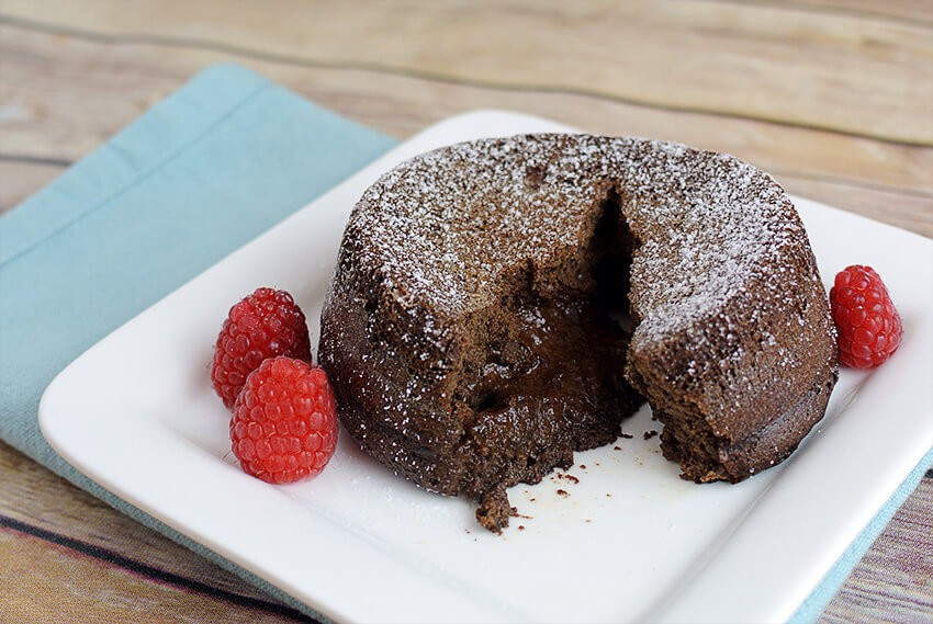 Low Carb Lava Cake For