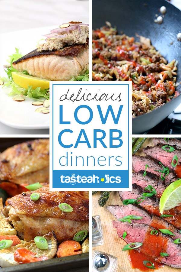 Low Carb Dinners - Our entire collection of low carb dinners will have your mouth watering for more! Whether it's chicken or escargot, you'll find keto dinner recipes for everyone here. | Tasteaholics.com