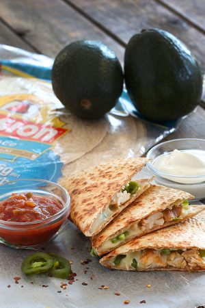 Avocado Chicken Quesadilla