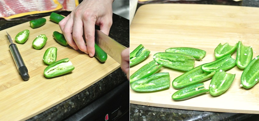 Cut and clean the jalapenos