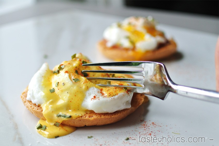Low Carb Eggs Benedict break