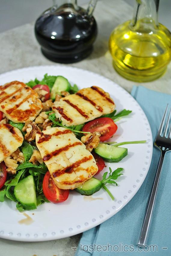 Grilled Halloumi Salad 2 - Tasteaholics