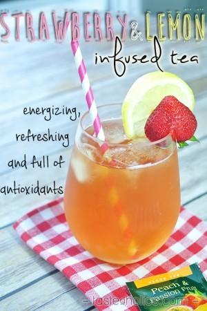 Keto Strawberry & Lemon Infused Iced Tea