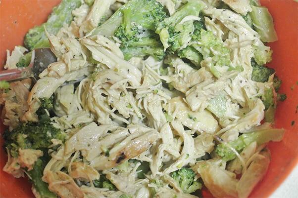Add broccoli and sour cream