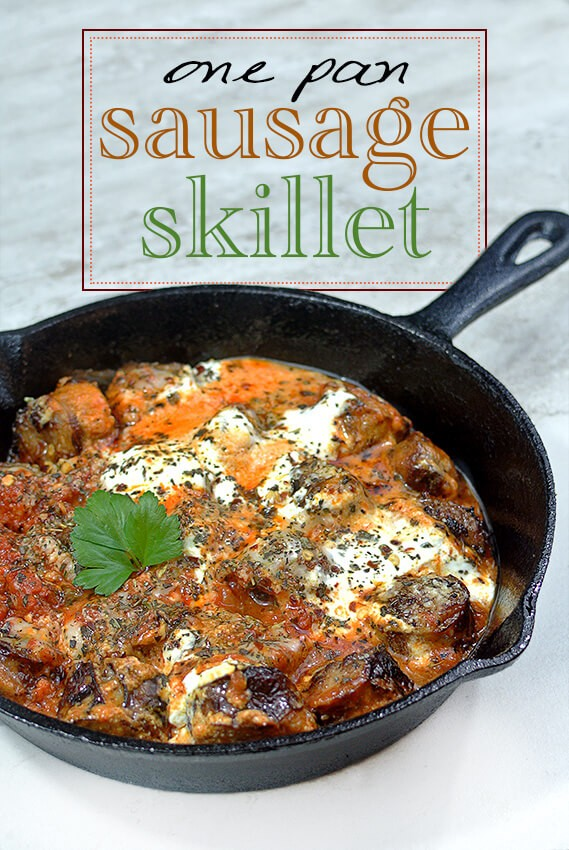 One Pan Italian Sausage Dinner Skillet   A Low Carb Dinner Recipe |  Tasteaholics.com