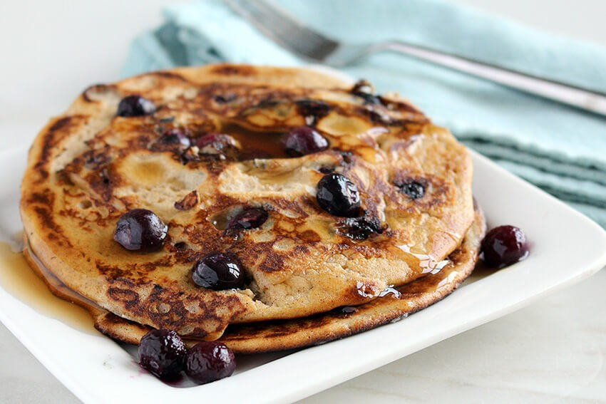 Paleo & Low Carb Blueberry Pancakes