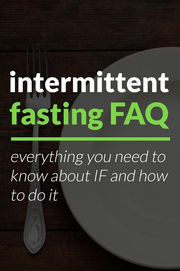 intermittent fasting FAQ