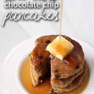 Low Carb Chocolate Chip Pancakes VIDEO