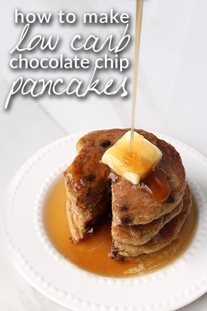 Low Carb Chocolate Chip Pancakes VIDEO