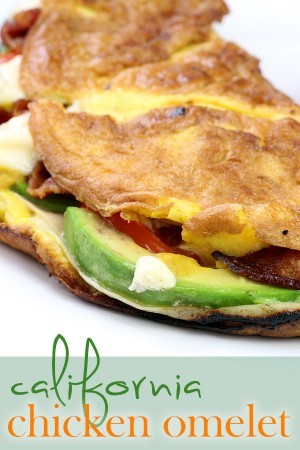 Keto California Chicken Omelette