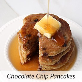 Keto Chocolate Chip Pancakes VIDEO