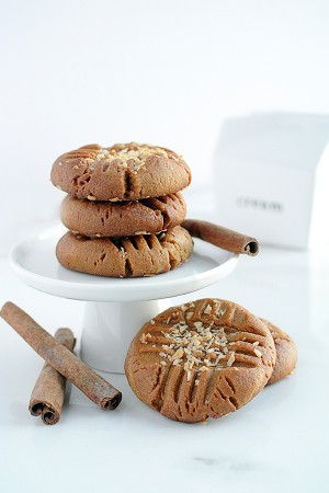 Cinnamon Coconut PB Cookies for pinterest