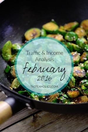 Tasteaholics.com - February Income and Traffic Analysis