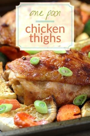 One Pan Chicken & Veggies - Easy Low Carb Dinner Recipe
