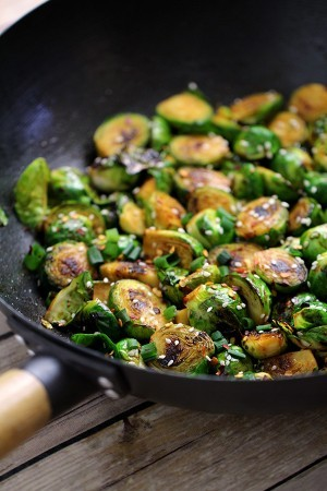 Sweet & Spicy Brussels Sprouts Recipe - Low Carb Dinner Idea