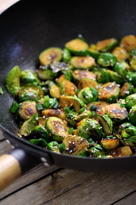Sweet & Spicy Brussels Sprouts Recipe