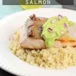 Avocado Lime Salmon - A 5 ingredient, low carb, paleo & gluten free dinner recipe!
