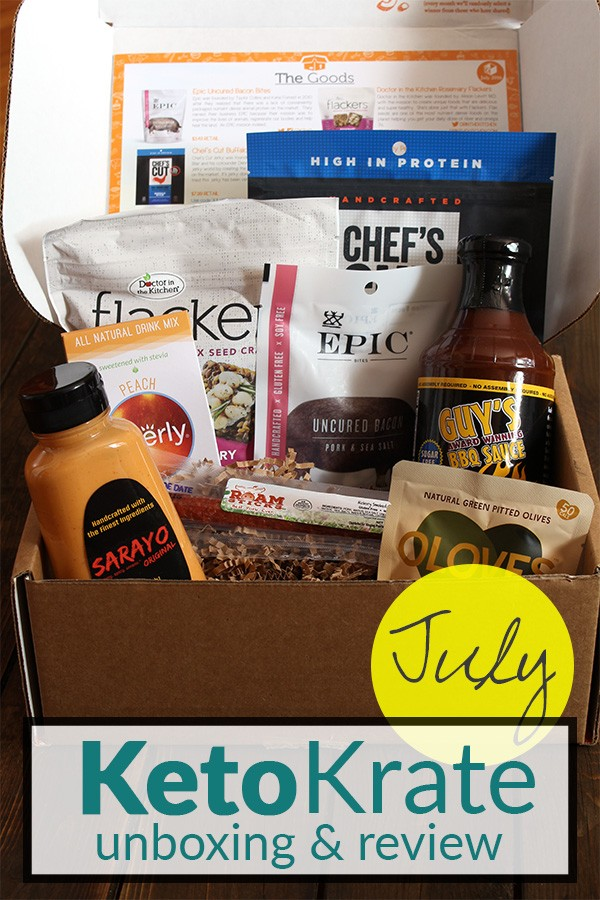 July Keto Krate Unboxing & Review on Tasteaholics.com - Low Carb, Paleo & Gluten Free Recipes