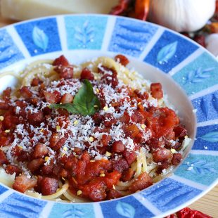 Low Carb Pasta - Amatriciana