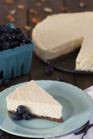 Low Carb Cheesecake - Sugar Free, Gluten Free Classic NY Style Cheesecake