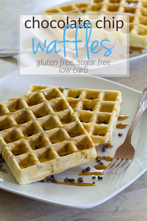Low Carb, Sugar Free, Gluten Free Waffles with only 5 Ingredients!