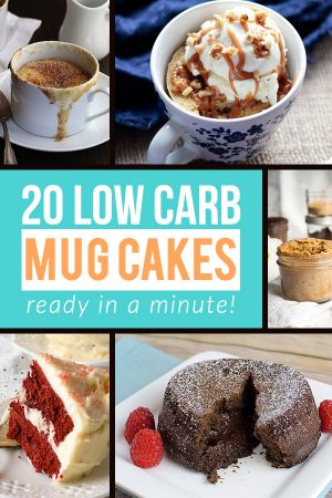 20 Easy & Quick Low Carb Mug Cakes
