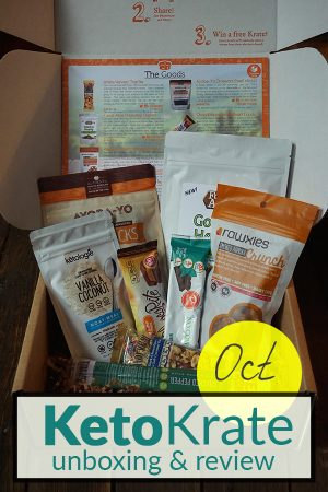 October Keto Krate Unboxing & Review on Tasteaholics.com - Low Carb, Paleo & Gluten Free Recipes