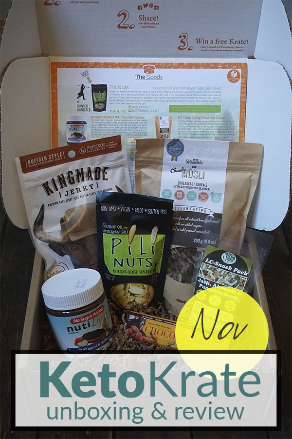 November Keto Krate Unboxing & Review on Tasteaholics.com - Low Carb, Paleo & Gluten Free Recipes