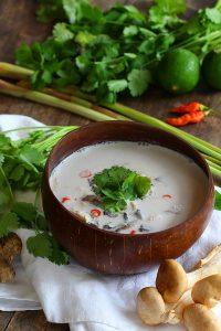 Thai Coconut Chicken Soup - Tom Kha Gai