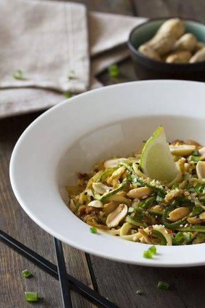 Low Carb Chicken Peanut Pad Thai