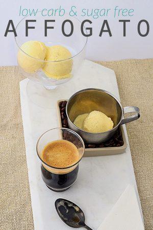 Keto Affogato - a sugar free, gluten free & low carb dessert recipe