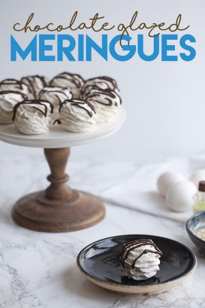 Chocolate Glazed Meringues