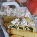 Cheesy Spinach Rolls with Apple Slaw