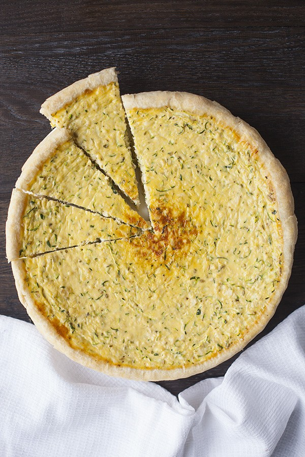 Chicken and Zucchini Breakfast Quiche - overhead