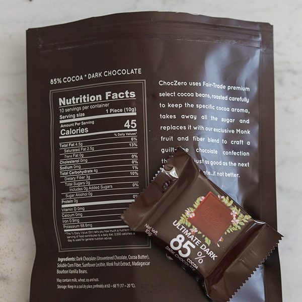 ChocZero - Product Review - Ingredients