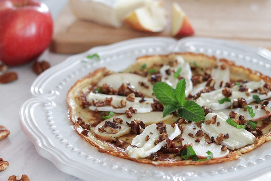 Brie & Apple Crepes - Low Carb & Gluten Free Breakfast or Lunch
