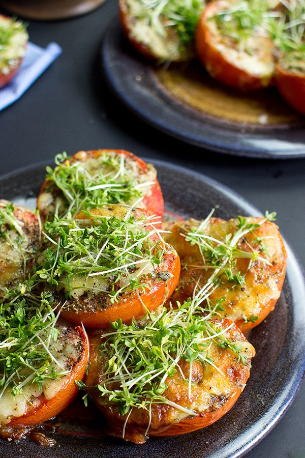 Grilled Tomatoes Low Carb, Gluten-free & Sugar-free recipe