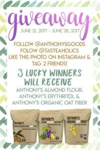 instagram giveaway graphic Tasteaholics