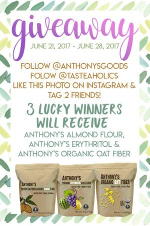 instagram giveaway graphic Tasteaholics
