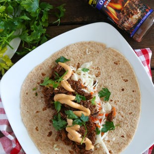 Slow Cooker BBQ Beef Burritos