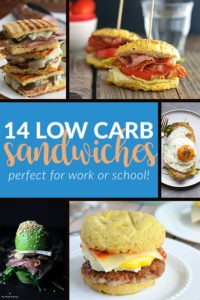 14 Low Carb Sandwiches perfect for work or school