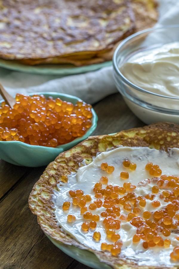 Blini Style Caviar Crepes - A Russian Delicacy
