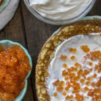 Blini Style Caviar Crepes