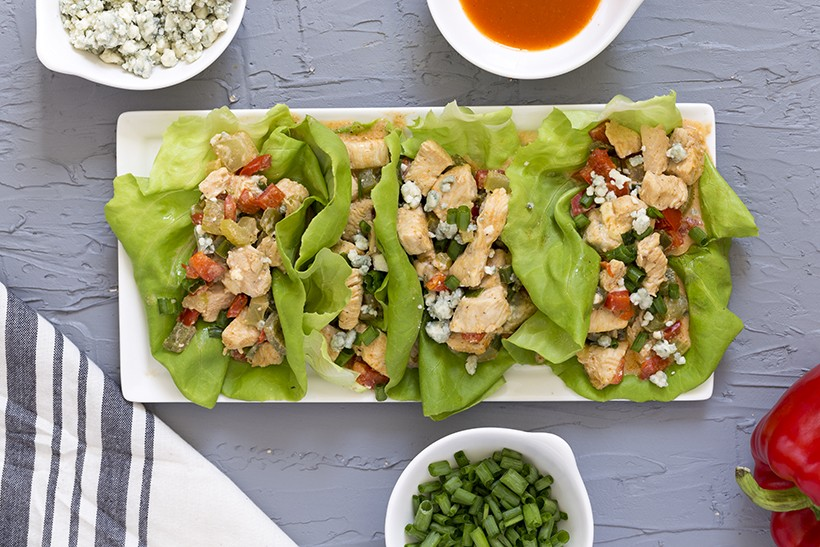 Low Carb Buffalo Chicken Wraps