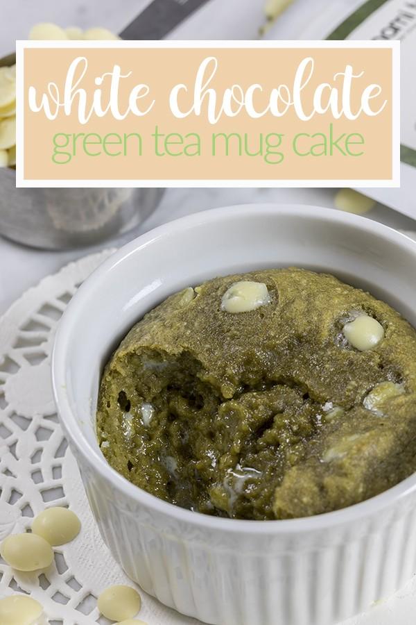 White Chocolate Green Tea Mug Cake