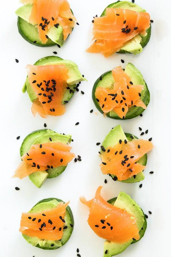 15 Minute Low-Carb Cucumber Bites