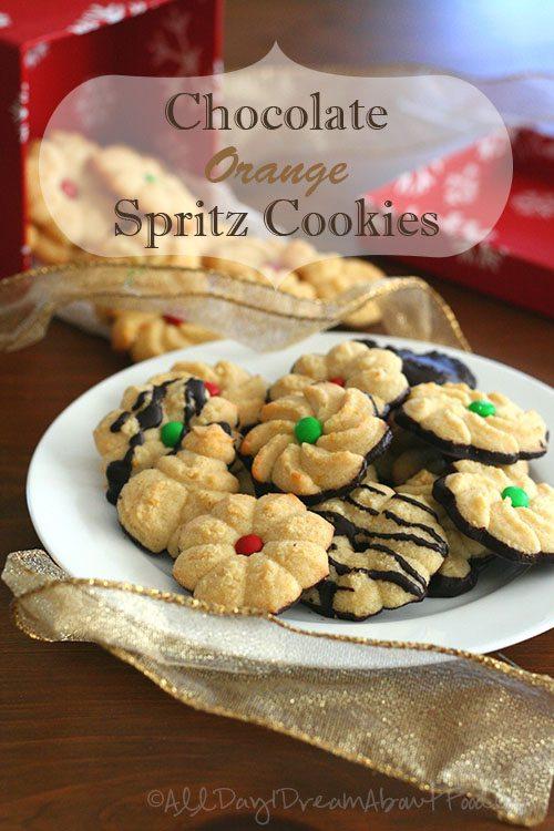 Chocolate-Orange-Spritz-Cookies
