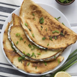 Cream Cheese & Chive Fold-Overs