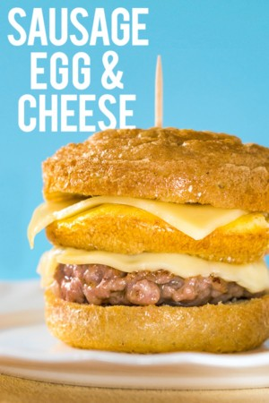 Keto Sausage Egg and Cheese