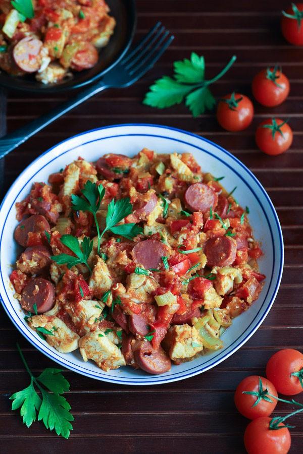 Chicken and sausage jambalaya recipe tasteaholics click to pin this recipe forumfinder Gallery